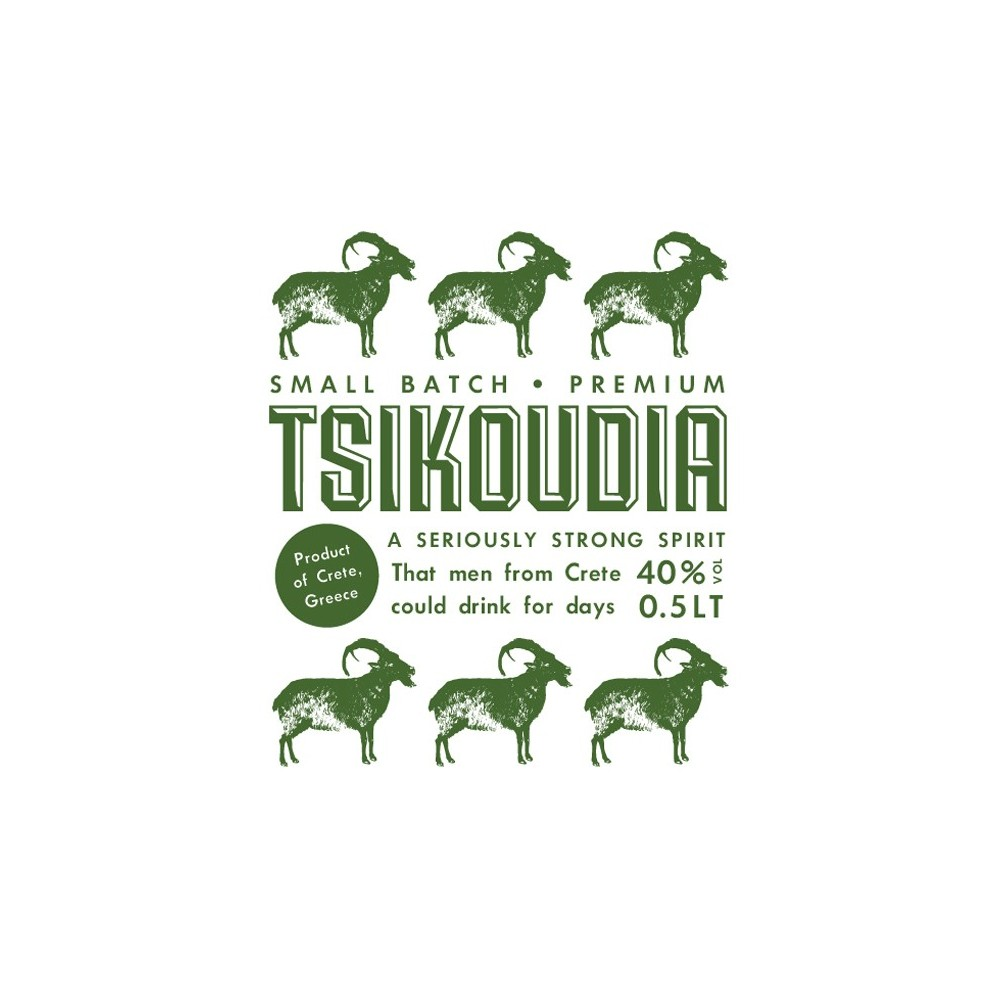 Tsikoudia (traditional Cretan grape spirit) 500ml Arodama logo