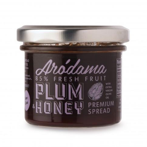Tartinade aux prunes, miel au thym et huile d'olive extra vierge 120g, vue de face
