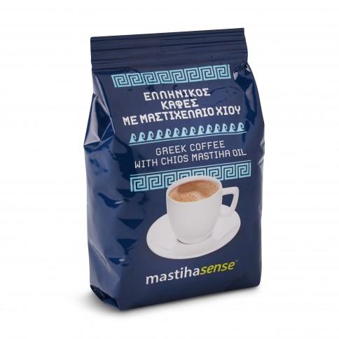 Café grec à l'huile de mastiha de Chios 100g, vu de face