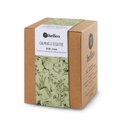 Parfum d'intérieur calmant aux huiles essentielles et huile d'olive grecque bio, vue de la boîte
