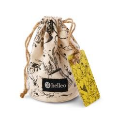 Parfum d'intérieur stimulant aux huiles essentielles et huile d'olive grecque bio, vue du pochon