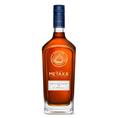 Metaxa 12 stars 700ml, exceptional Greek alcohol, front view