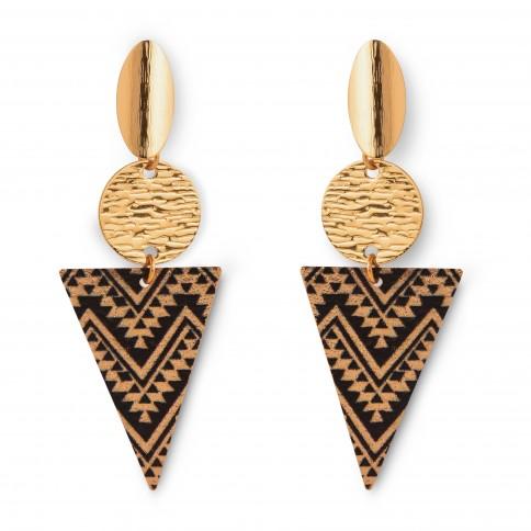 Boucles d'oreilles Tinos fabriquées en Grèce, une exclusivité Poupadou