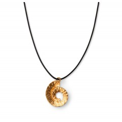 Pendentif doré Spirale - Noir