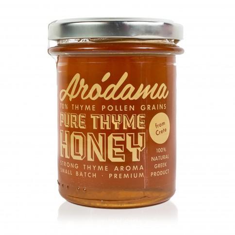 Θυμαρίσιο Μέλι Κρήτης 250g Arodama βαζάκι μπροστινή όψη