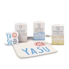 Coffret Savon YaSu composé de savons à l'huile d'olive grecque, vue de face