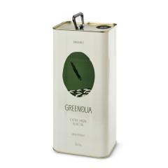 Huile d'olive bio extra vierge bio Amphissis/Koroneiki Greenolia, bidon de 5l, vue de face