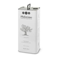 "Huile d'olive extra vierge ""Koroneiki"" 5l Philotimo bidon vu de face"