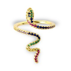 Χρυσαφί Δαχτυλίδι Φιδάκι