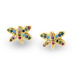 Χρυσαφί Σκουλαρίκια Πεταλούδα