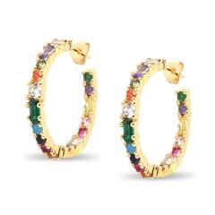 Χρυσαφί σκουλαρίκια Μύκονος