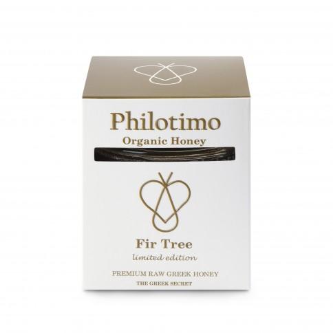 Miel de sapin bio grec 250g Philotimo édition limitée, vue de l'emballage