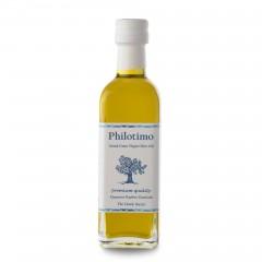 "Huile d'olive extra vierge ""Koroneiki"" 50 ml Philotimo bouteille vue de face"