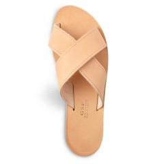Sandales grecques en cuir Apollon, fabriquées à la main en Crète, vue de dessus