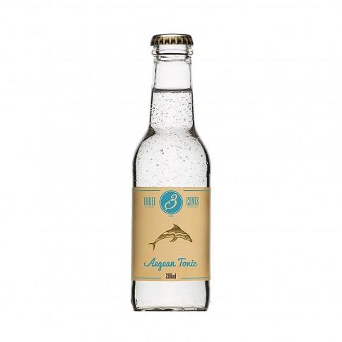 """Aegean Tonic"" με αγγούρι και λεμόνι 200ml THREE CENTS μπροστινή όψη"