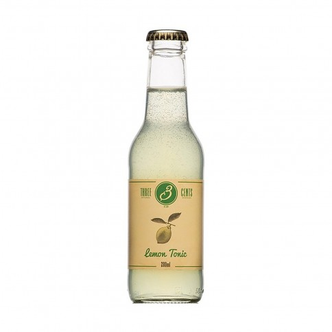 Lemon Tonic 200ml THREE CENTS front view