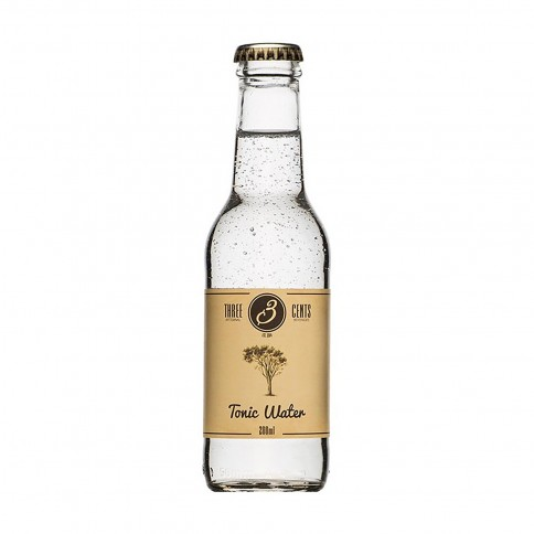 Tonic water 200ml THREE CENTS front view