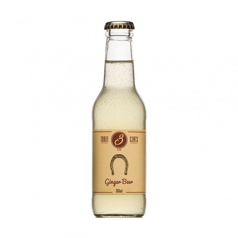 """Bière de gingembre """"Ginger Beer"""" 200ml Three Cents vue de face"""