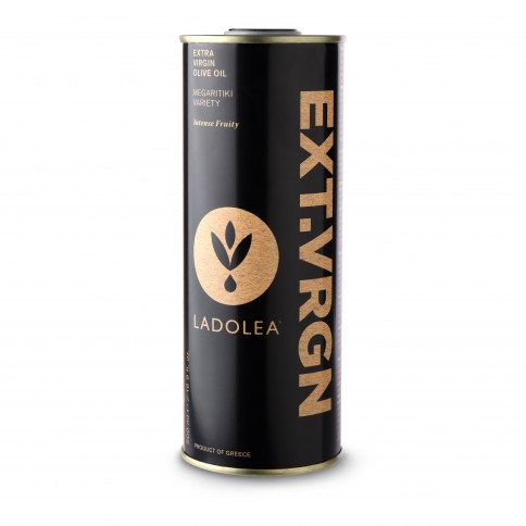 Huile d'olive extra vierge Megaritiki 500ml Ladolea vue de face
