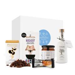 """Coffret cadeau """"douceurs sucrées"""" avec des produits de Grèce délicieux et artisanaux"""