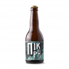 Pikri I.P.A. 330ml greek craft beer Kirki Beers front view