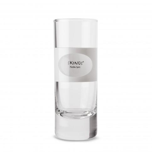 Ποτήρι σφηνάκι Skinos για να απολαύσετε το λικέρ από αγνή μαστίχα, μπροστινή όψη