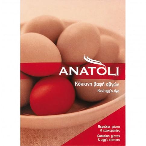 Κόκκινη βαφή αυγών για το Πάσχα Ανατολή, μπροστινή όψη