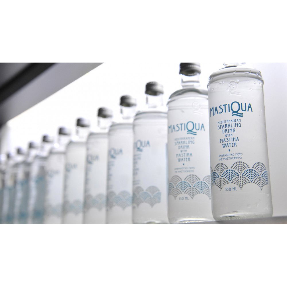Sparkling water with Mastic 330ml Mastiqua many bottles