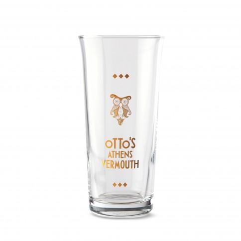 Ποτήρι Otto's Athens Vermouth για να δοκιμάσετε το πρώτο αθηναϊκό βερμούτ, μπροστινή όψη