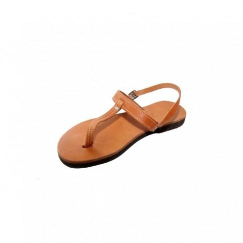 """Sandales artisanales en cuir """"Iphigénie"""" GSP Sandals vue de côté"""