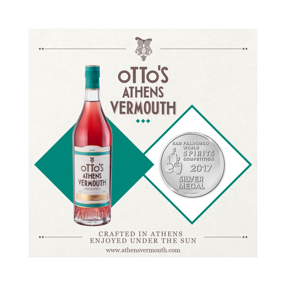 Bouteille de Otto's Athens Vermouth 750ml, 2017 silver award