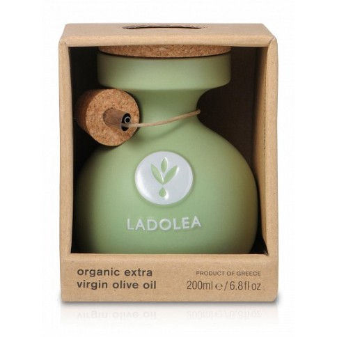 Organic Extra Virgin Olive Oil Koroneiki 200ml in its packaging LADOLEA