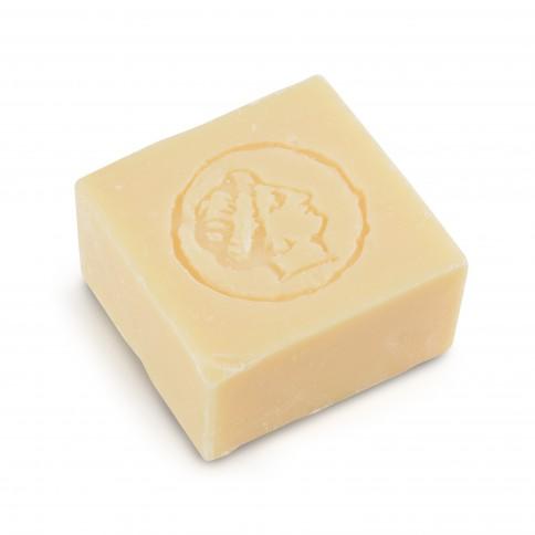 Αγνό σαπούνι ελαιόλαδου με άρωμα γιασεμιού 150g LESVOS GOLD, κάτοψη σαπουνιού