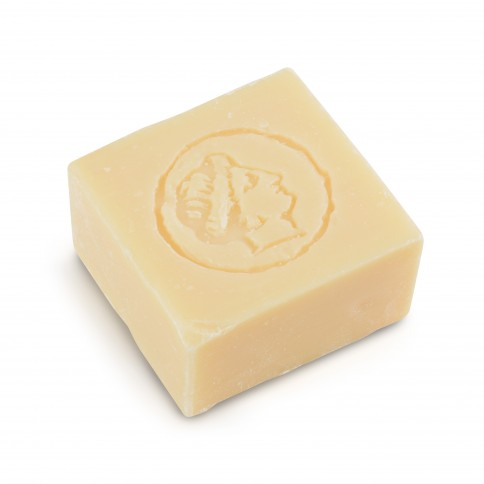 Pure olive oil soap jasmine fragrance 150g LESVOS GOLD, soap seen from above
