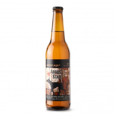 Argos Star lager μπίρα 50cl ΖΕΟΣ, μπροστινή όψη