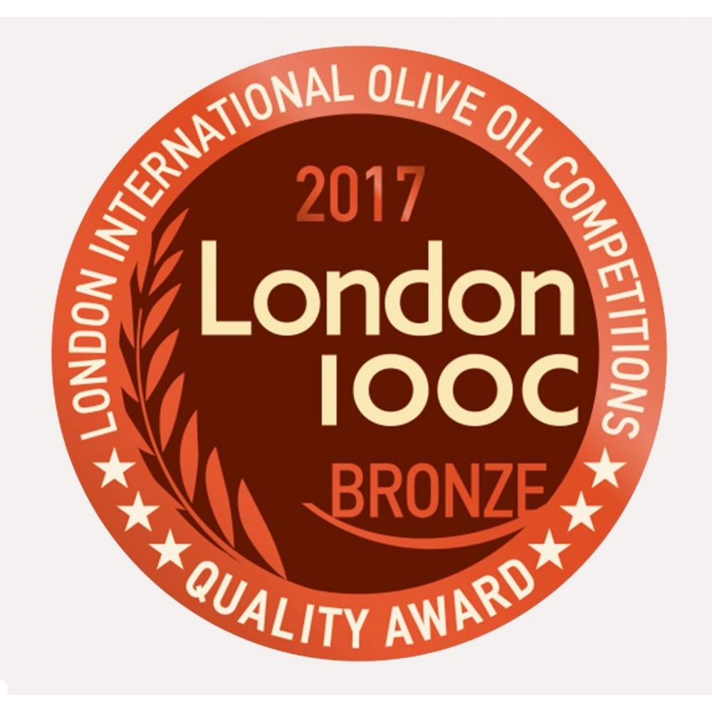 "Extra virgin oil Manaki ""39/22"" 500ml LIOOC bronze award 2017"