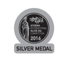 Huile d'olive extra vierge Manaki 500ml 3922 AIOOC 2016 silver
