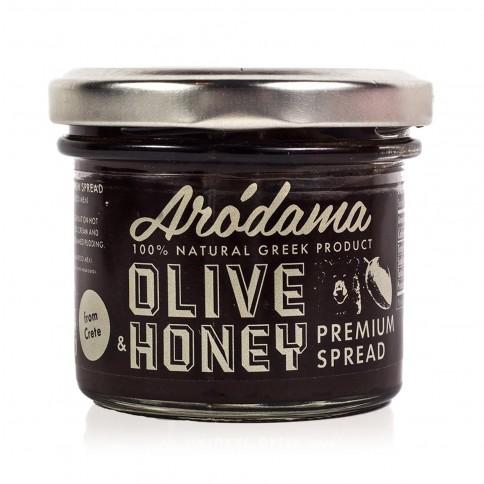 Tapenade au miel de Crète Arodama - pot de 100g, vue de face