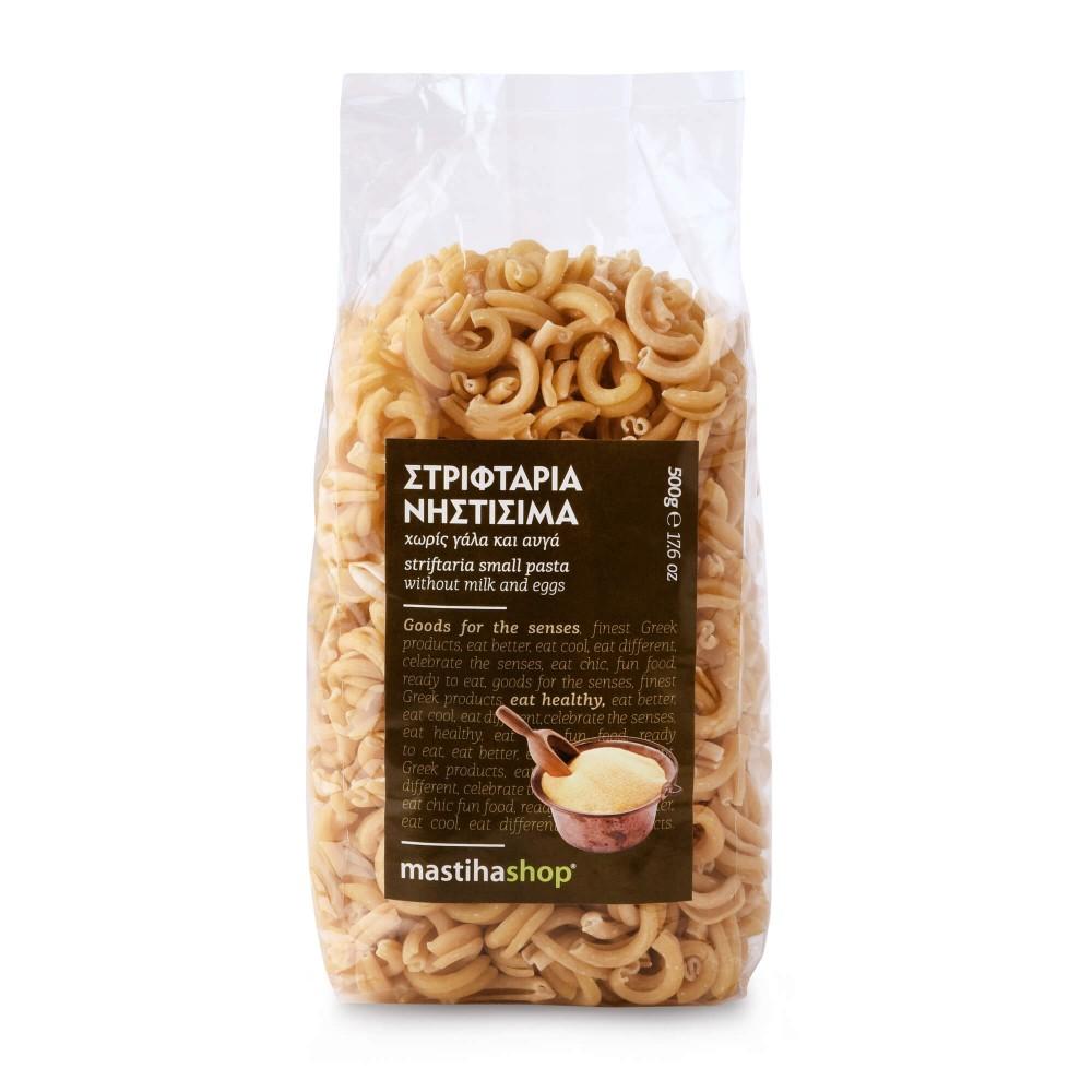 Striftaria small braids of pasta 500g Mastiha Shop front view