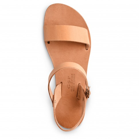 "Leather Sandals ""Athena"" GSP Sandali top view"