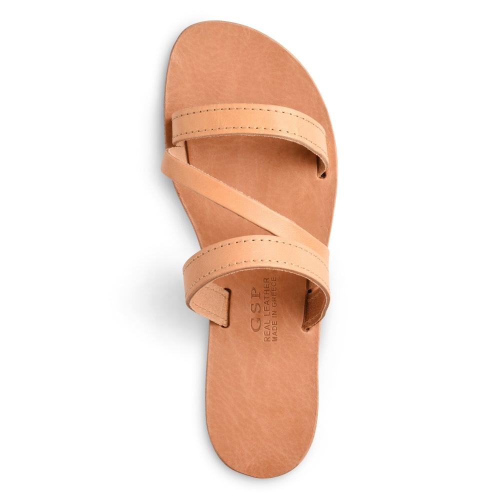 "Leather Sandals ""Artemis"" GSP Sandali top view"