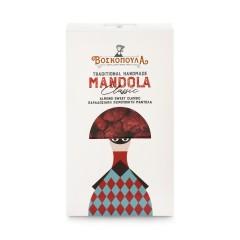 Mandola - amandes caramélisées grecques artisanales 140g Voskopoula, boîte vue de face