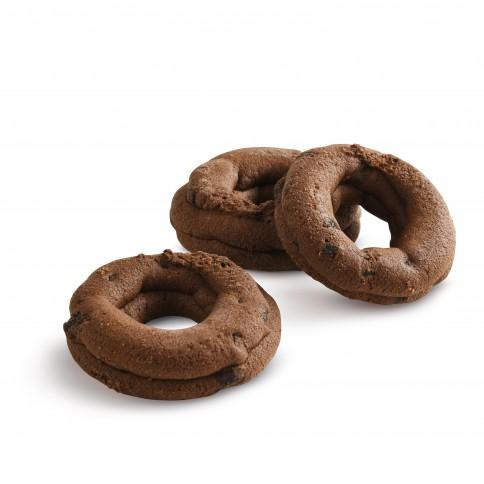 Biscuits grecs aux éclats de chocolat noir 100g Tsanos, détail
