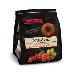 Tsanakia petits biscuits grecs au moût naturel de raison 100% 70g Tsanos , vue de face