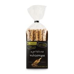 Gressins grecs aux céréales 230g Tsanos, paquet vu de face