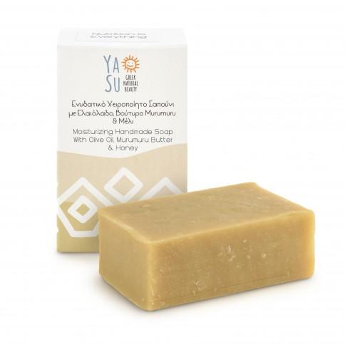 Savon grec artisanal Ya Su 120g boîte et savon