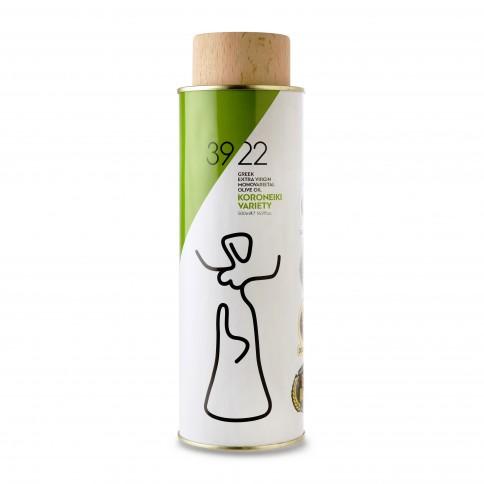 Huile d'olive extra vierge Koroneiki d'Attique 500ml 3922 vue de face