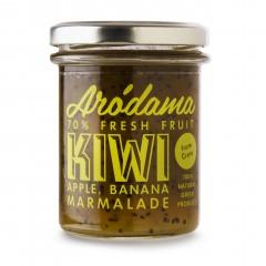 Confiture de kiwi avec des pommes et de la banane Arodama - pot de 220g, vue de face