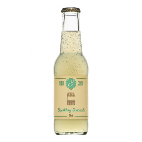 Sparkling Lemonade 200ml THREE CENTS front view