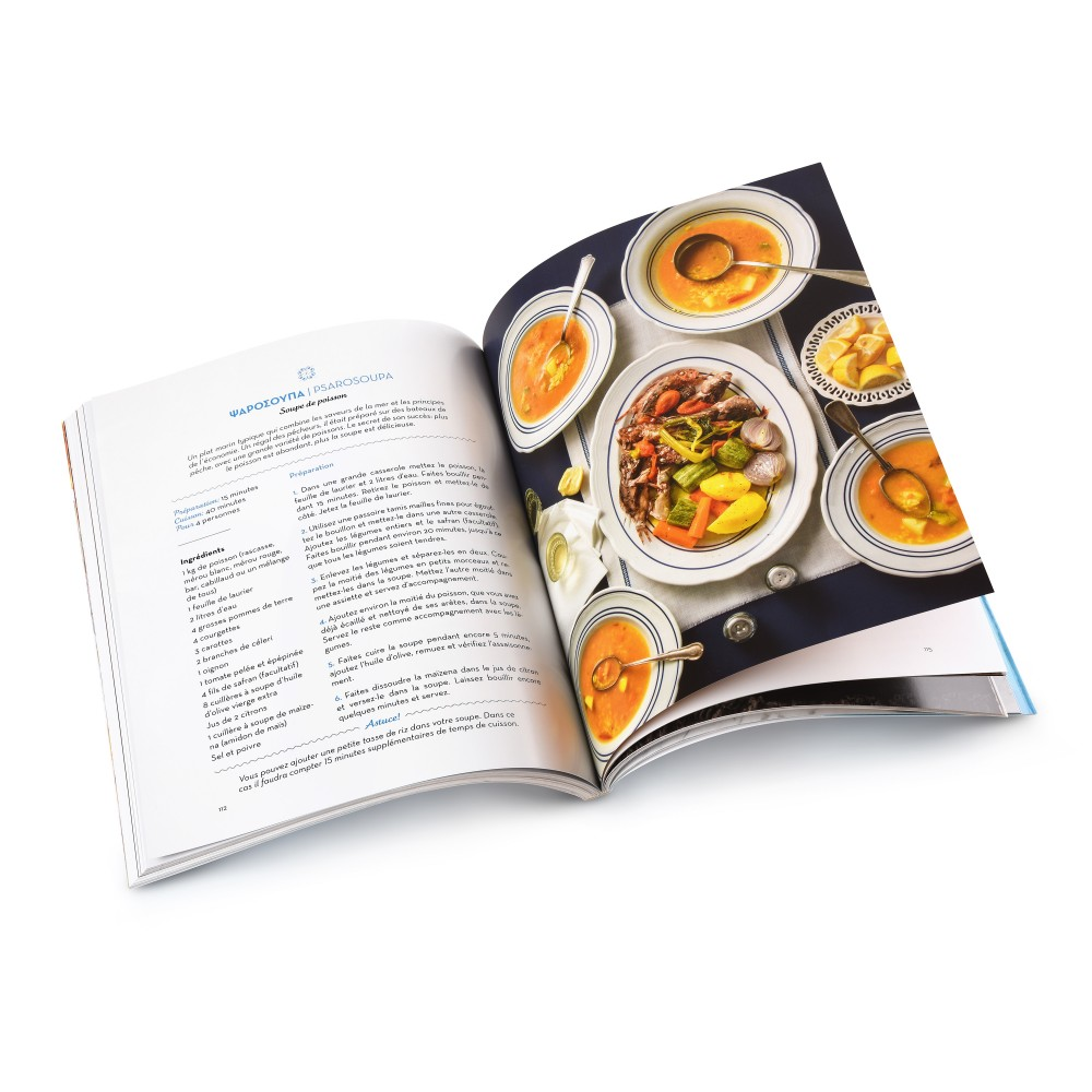 """Photo intérieure du livre de recettes grecques authentiques """"Ma Taverne Grecque"""""""